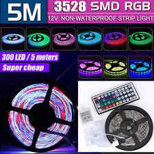 5m 300 LEDs RGB 528 SMD 12v LED Home KTV Strip Light Focus Lamp IR Controller