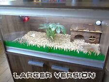 Grass Vinyl Decal Sticker For Reptile Vivarium Tank Tortoise Snake Dragon Gecko