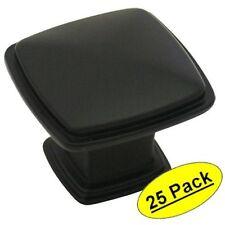 *25 Pack*  Cosmas Cabinet Hardware Flat / Matte Black Knobs #4391FB