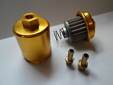 HIGH FLOW WASHABLE JDM FUEL FILTER HONDA ACURA B18 B16 D15 D16 H22 F22 H23 GOLD