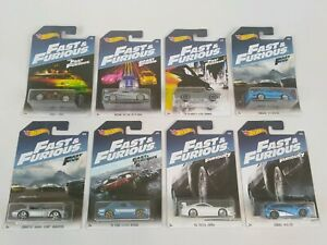 Hot Wheels Fast and Furious 2016 Edition Lot Of 8 Complete Series 1/8 - 8/8 Mint