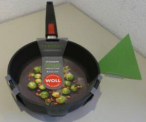 WOLL Guss-Hochrandpfanne 24 cm Nowo Titanium Induktion Bratpfanne beschichtet