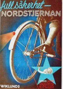 Original vintage poster NORTH STAR CYCLE PARTS c.1950
