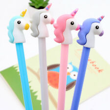 2x Kawaii Cartoon Unicorn Gel Ink Pens Rollerball Office Supply Kids Party Gifts