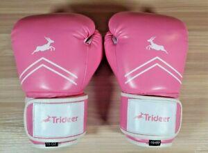 Trideer Pro Grade Boxing Gloves Kickboxing Bagwork Gel Sparring Training 10 oz