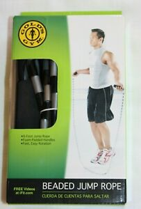 NEW in Box Gold's Gym beaded Jump Rope 9' With Foam Padded Handles #7