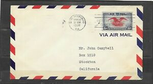 1938 American Air Mail Society Convention Station Cover, Saint Petersburg, FL