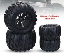 4PCS 1/10 Monster Truck Wheels Tires For HPI HSP Savage XS TM Flux Racing LRP