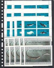 Dolphins Fish Marine Life 1994 Batum MNH 4 v + 1 S/s set  X 10 Wholesale lot