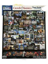 White Mountain 302PZ Cross In America - 1000 Piece Jigsaw Puzzle