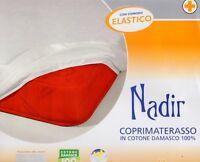COPRIMATERASSO matrimoniale Biancaluna 2 piazze Nadir cotone damasco