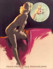 "Nude Marilyn Monroe in Mirror 8.5x11"" Photo Print Naked Female Pinup Earl Moran"