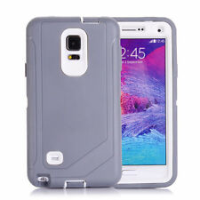 Galaxy Note 4 Defender Case Shockproof Built-in Screen Protector with Belt Clip