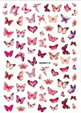 PINK Butterfly Nail Stickers nail art designs