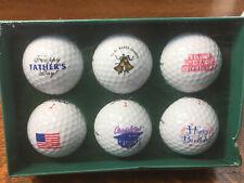 Titleist Lot of 6 New Logo Golf Balls Flag Congrats Father's Day Grads B-Day