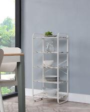 Kings Brand Furniture White Freestanding 5 Tier Kitchen Storage Organizer Unit