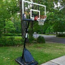 "Spalding 54"" Polycarbonate Portable Basketball Hoop Goal Pro Slam Breakaway Rim"