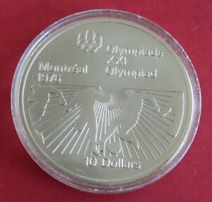 CANADA 1976 MONTREAL 1976 OLYMPIC GAMES $10 SILVER - FOOTBALL