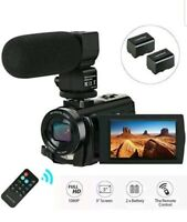 Video Camera Camcorder,Actinow Digital Camera Recorder with Microphone HD 1080P