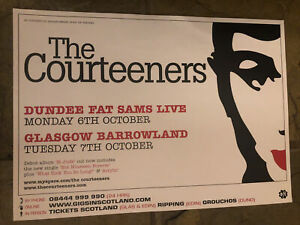 The Courteeners - Rare Concert/Gig poster, Dundee & Glasgow - October 2008