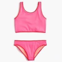 J Crew Crewcuts Girl's Reversible 2 Piece Tankini Swimsuit Set