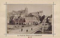 Mans Francia Stampa Albumina Vintage Verso 1890 Formato CDV 2 Foto R/Scollo V