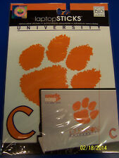 Clemson Tigers NCAA University College Gift Tablet Laptop Removable Stickers
