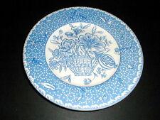 Royal Stafford England Flower Basket BLUE TOILE Salad/Dessert Plate/s
