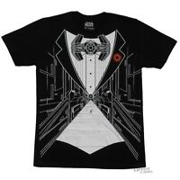 Star Wars Tie Fighter Tux Darth Vader Licensed Adult T-Shirt