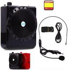 Amplificador con Micrófono de cabeza Altavoz portátil Altavoces Megáfono