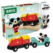 More details for mickey mouse battery powered train for ages 3+ compatible with brio railway sets