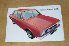 Ford Cortina 1600E Brochure 1967-1969 - Cortina Mk2