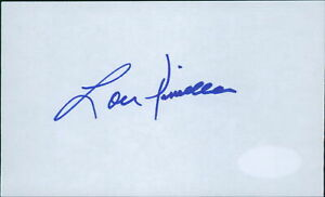 Lou Piniella New York Yankees Signed 3x5 Index Card JSA Authenticated