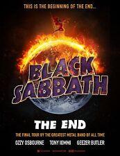 OZZY OSBOURNE - BLACK SABBATH - THE END - WORLD TOUR POSTER - TONY IOMMI, BUTLER
