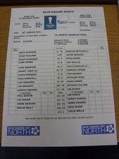 30/01/2013 Colour Teamsheet: FC Halifax Town v Dartford [FA Trophy] (folded). Bo