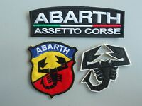 ABARTH KIT 3 TOPPE PATCH RICAMATE TERMOADESIVE