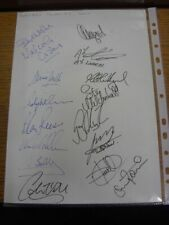 2001 Autographed A4 Page: Swindon Town - Approx 15 Signatures Upon A Plain White