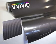 Dark grey carbon fiber (not printed) gloss tech art 2ft x 5ft vinyl car wrap
