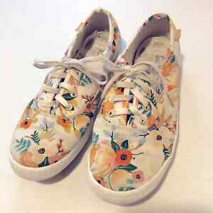 Rifle Paper Co Keds Floral Low Top Lace Up Sneakers Girls/Youth Size 3