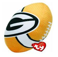 "TY Rush Zone Beanie Ballz Beanie Babies Green Bay Packers Plush Football 13"""