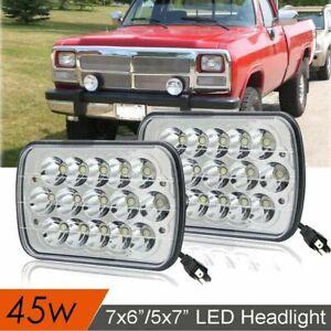 "7x6""LED Headlight Lamp Sealed Hi/Lo Beam Upgrade for Dodge D150 D250 D350 Ram 50"