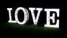 LETRAS LOVE BLANCAS PARA BODAS VINTAGE CON ILUMINACIÓN LED ECOLÓGICA