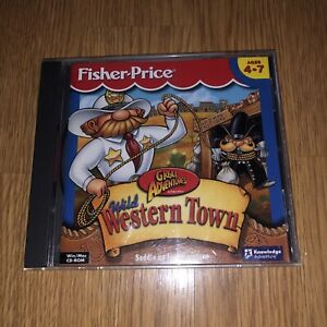 Fisher Price Great Adventures Wild Western Town CD PC Software Windows Mac