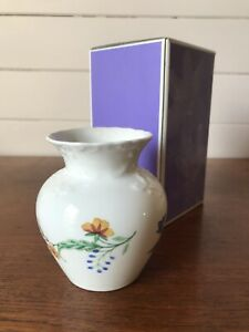 Vintage Coalport Summer Meadow Porcelain Posy Vase Made In England With Box