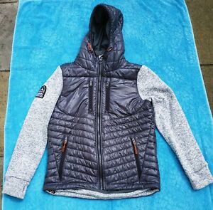 "Men's Superdry Storm Jacket Coat Size Large Grey 42"" chest VGC"
