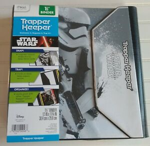 NEW Mead Trapper Keeper Star Wars The Force Awakens Storm Trooper Disney Binder
