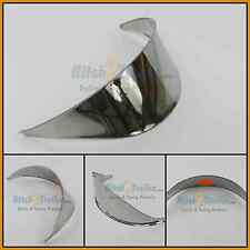 "Headlight visor Stainless steel 5 3/4"" Diameter Peterbilt Kenworth Freight 92486"