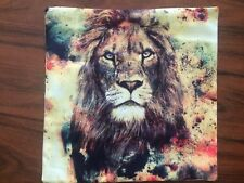 Lion King of the Jungle Beautiful Square Pillow Cushion Cover.