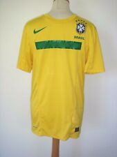 01 Brazil Official Yellow Nike Dri-Fit Home Football Shirt Size S