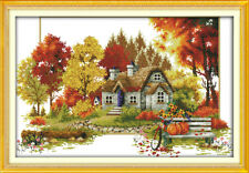 Joy Sunday Counted Cross Stitch Kit 14CT 23in x 15in Autumn Embroidery Kit